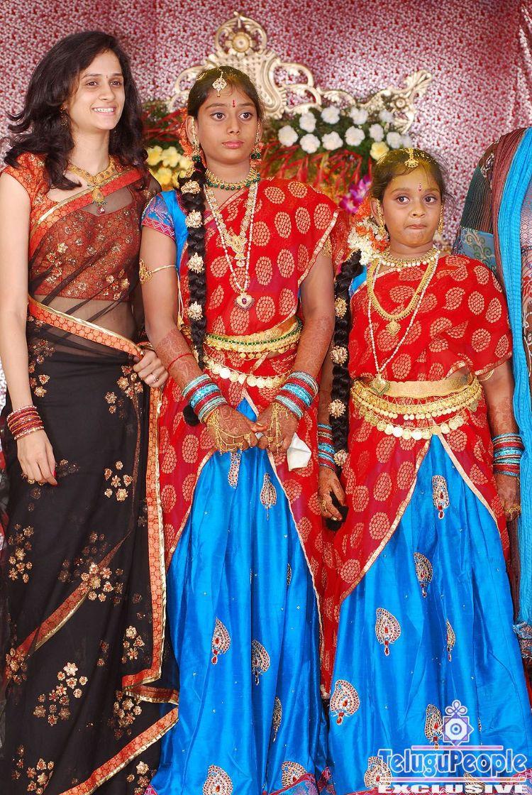 Krishnamraju Daughter Half Saree Function At Telugupeople Com Photo