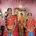 Krishnamraju daughter half saree function at TeluguPeople ...