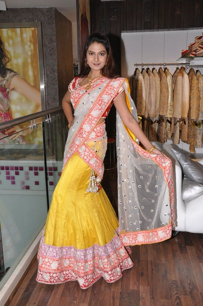 Bridal sarees indian bridal sarees bridal sarees for parties - Neerus Half Sarees Collection 2013 At Telugupeople Com